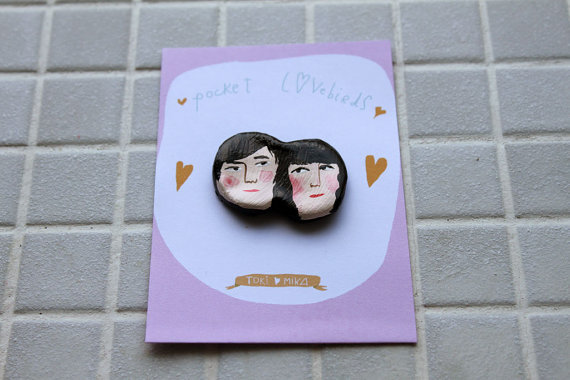 (via Gift Pocket Lovebirds made to order di MsSpanner su Etsy)