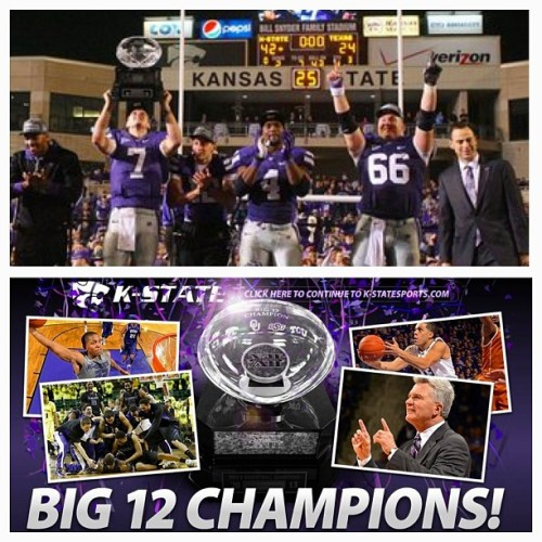 Big 12 Champs! #football #basketball #kstate #emaw