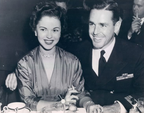 Shirley Temple with her husband, Charles Black, 1952.