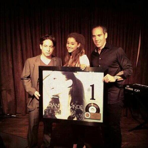 love-ari-grande:  @republicrecords' instagram : Congrats @arianagrande on #theway certified GOLD!  @arianagrande - The Way #1st gold record ! I'm so proud of you girl ! You're very talented <3 Je t'aime, much love from France