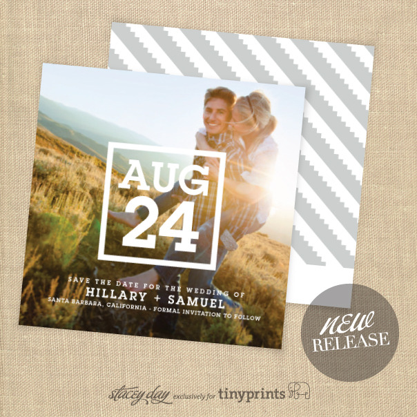NEW DESIGNS : SAVE THE DATE CARDS Do you have an upcoming wedding? I have a new collection of lovely save the date cards at Wedding Paper Divas. There are choices of magnets or timeless photo cards - all modern and a great way to get your guests excited about the big day. Check out all the new designs here: Stacey Day save the date cards.