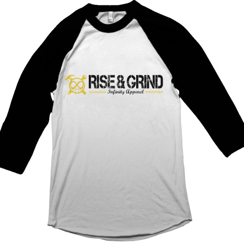 New Years Drop: Rise & Grind Yellow Raglan www.infinityovereverything.com/shop