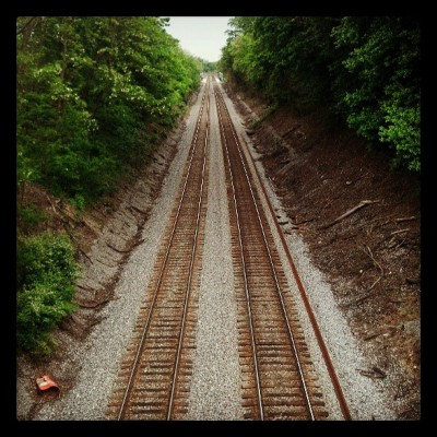 To #infinity and beyond #train #tracks #rail #road #railroad #trees #green