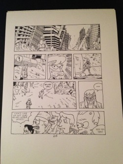 Inked the first of my Bartkira pages