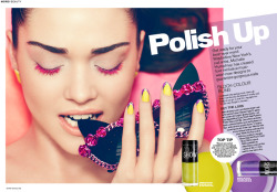 'Polish up' nail editorial I worked on for More Magazine…