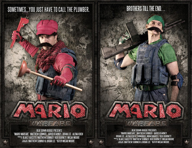 Kickstart This Shizz: Mario Warfare Mario Warfare is a fan-made YouTube series set in the Mushroom Kingdom by Beat Down Boogie for the Call of Duty generation of gamers. They've already surpassed their $20,000 goal and made $27,750, but there's still six days left to support them even more. Each episode involves enormous amounts of time and money, so they need all the help they can get. Here's the official Kickstarter page. And if you need a better reason to donate, check out the first two episodes of Mario Warfare below. Mario Warfare Part 1.  Mario Warfare Part 2.