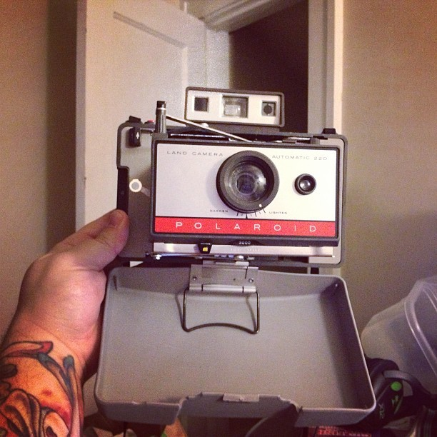 I got mail!!! #polaroid #220 #instant #film #camera #rangefinder (at The Foster Home)