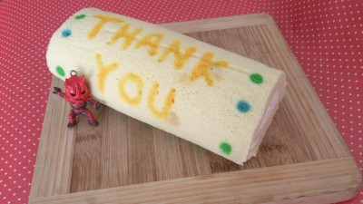 Thank You ~deco swiss roll cake