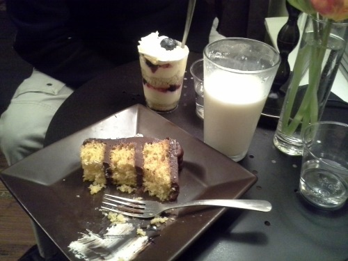 I have just discovered a fancy cake cafe next to my home….. I am so happy!