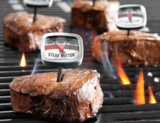 Steak Button Thermometer Set | Few Magazine > http://j.mp/Vb4G27
