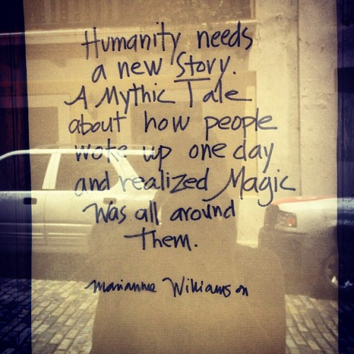 imagininglearning:  theadmissionsguru:  Humanity needs a new story. #magic #love  This is exactly what we are trying to do Imagining Learning! We are trying to help Young people be the authors of this new story and to help bring forth their visions of a world full of magic and love!  Check out more about our work here