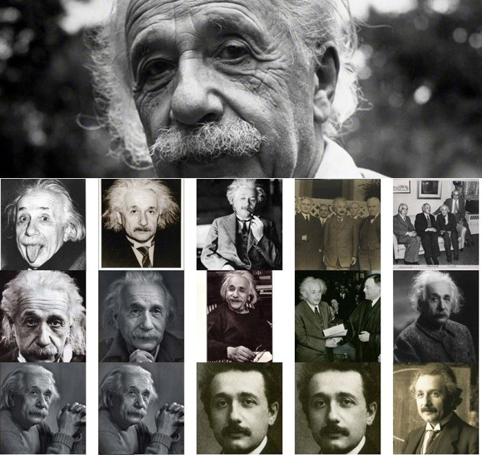"Happy Birthday Einstein! Some rare captures and photo collage of Albert Einstein  Born 14 Mar 1879; died 18 Apr 1955 at age 76. German-American physicist who developed the special and general theories of relativity and won the Nobel Prize for Physics in 1921 for his explanation of the photoelectric effect. Recognized in his own time as one of the most creative intellects in human history, in the first 15 years of the 20th century Einstein advanced a series of theories that proposed entirely new ways of thinking about space, time, and gravitation. His theories of relativity and gravitation were a profound advance over the old Newtonian physics and revolutionized scientific and philosophic inquiry.  Some Quotes  ""The most beautiful thing we can experience is the mysterious. It is the source of all true art and all science. He to whom this emotion is a stranger, who can no longer pause to wonder and stand rapt in awe, is as good as dead: his eyes are closed."" ""A man sits with a pretty girl for an hour, it seems like a minute. He sits on a hot stove for a minute, it's longer than any hour. That is relativity.""  ""Anyone who thinks science is trying to make human life easier or more pleasant is utterly mistaken."" ""My internal and external life depend so much on the work of others that I must make an extreme effort to give as much as I receive."" ""Imagination is more important than knowledge. Knowledge is limited. Imagination encircles the world.""   Resources  http://en.wikipedia.org/wiki/Albert_Einstein http://www.nobelprize.org/nobel_prizes/physics/laureates/1921/einstein-bio.html http://www.biography.com/people/albert-einstein-9285408 http://www.alberteinstein.info/ http://rescomp.stanford.edu/~cheshire/EinsteinQuotes.html http://einstein.biz/ http://www.albert-einstein.org/ http://youtu.be/n-YWVOG_L4M http://youtu.be/HZ_W3EAfp6I http://youtu.be/nYaRPlEWnXw http://youtu.be/U1y0AXiEDsI http://www.space.com/15524-albert-einstein.html http://todayinsci.com/E/Einstein_Albert/EinsteinAlbert-Quotations.htm  Books  http://todayinsci.com/Booklist/Booklist.php?combo=Albert_Einstein http://www.amazon.com/Best-Sellers-Books-Albert-Einstein-Biographies/zgbs/books/917104 http://www.goodreads.com/author/list/9810.Albert_Einstein"