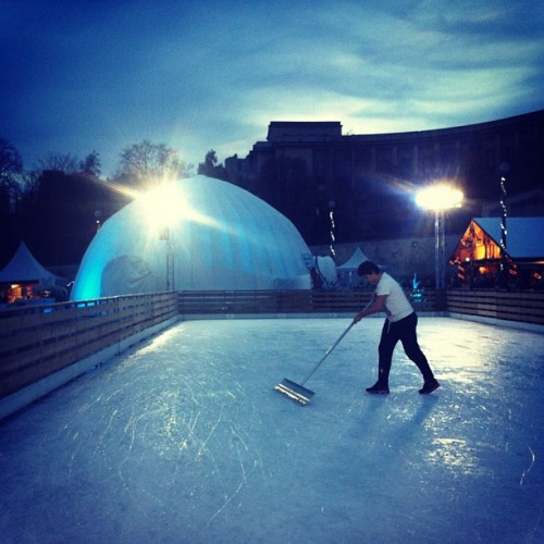 Skating rink at Trocadéro, #Paris