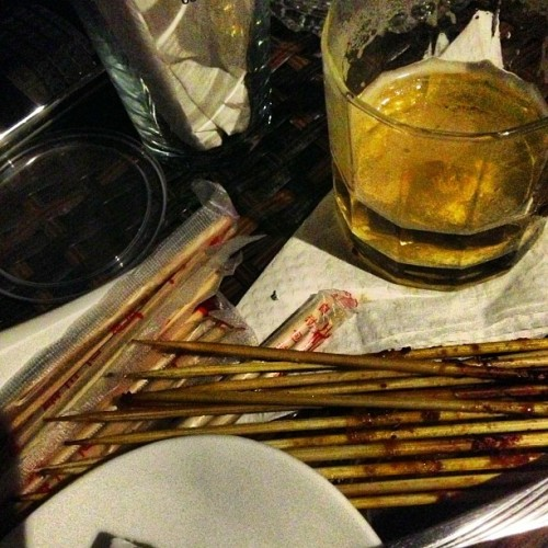 #BEST #SATAY #EVER !!! AND #BEER !!! #BEERJUNCTION #JADI