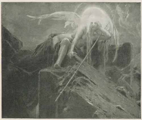 "blackpaint20:  fragment of ""Ver Sacrum"" by Maximilian Pirner  ca.1898"
