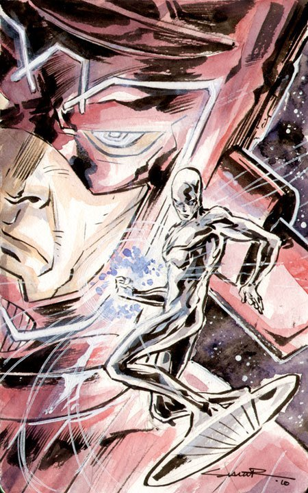 Silver Surfer and Galactus By Yildiray Cinar