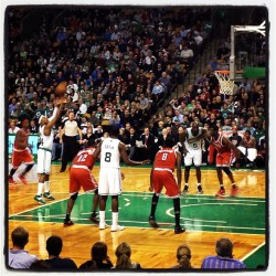 Celtics game. 8th row!
