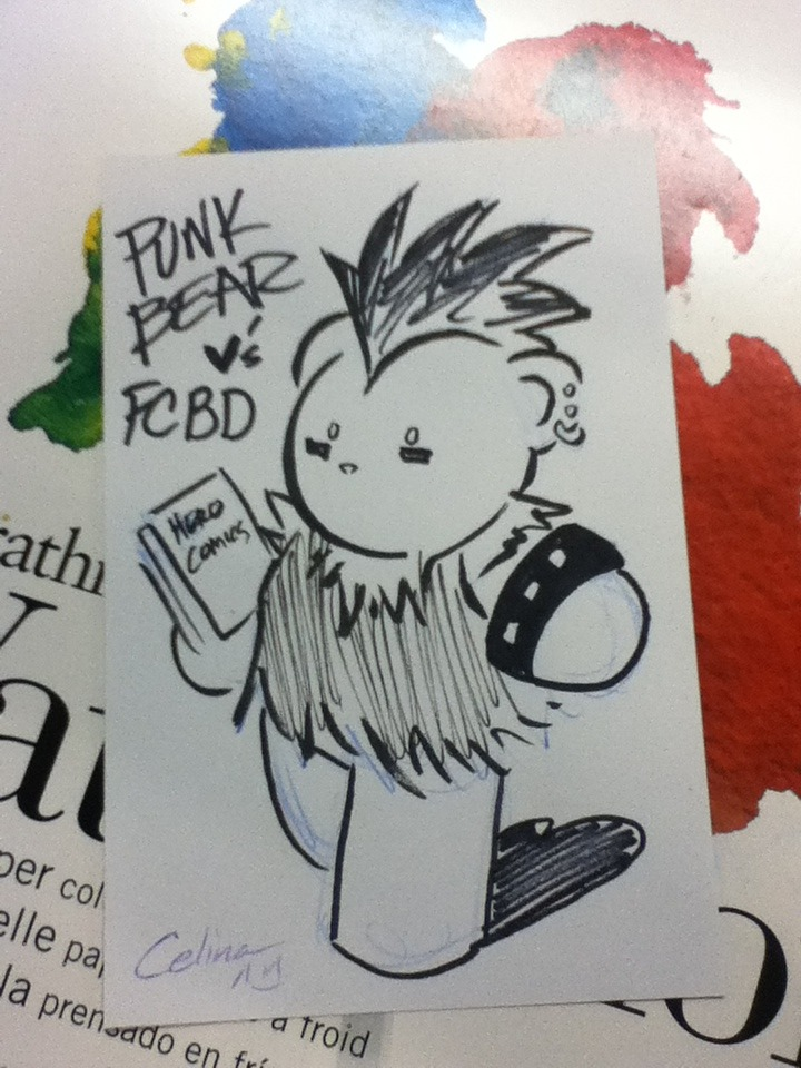 FCBD 2013 PUNK BEAR by ~ChibiCelina
