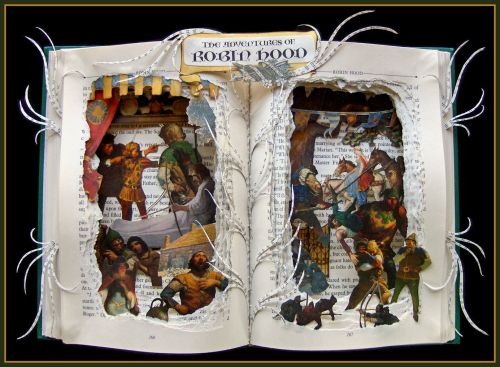 Robin Hood Book Sculpture… https://www.etsy.com/listing/128828146