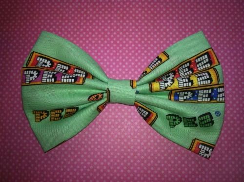 Listing lots of new bows in my etsy shop today! This Pez one is my favorite!