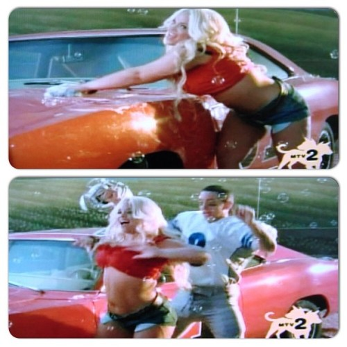 "washing the general lee on the Eminem video ""we made you"" #videovixen #throwbackthursday #tbt"