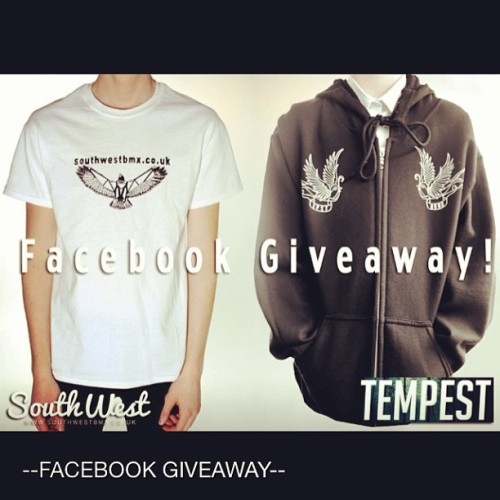 Free T-shirt! Free hoodie! Free stickers! And 30% off at the Tempest store for a year! What a stunner! Head over to the #swbmx facebook now! #bmx #competition #facebookgiveaway #tempest #T-shirt #hoodie