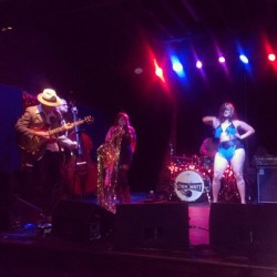 Go-go dancing on stage with @taylorbrashearsmusic last night! Thanks @kittylouise281 for the snap! #burlesque #gogo #tasselsandtwang