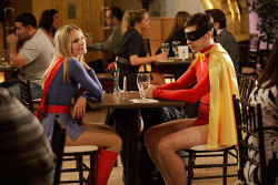 Because you always wanted to see Kristen Bell and Justin Long dressed as superheroes, we have these EXCLUSIVE PICS from Movie 43. More this way: http://bit.ly/11bVsZD
