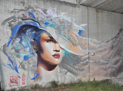 telmomiel:  Our part of the 'Miss Elementi' mural in Italy.