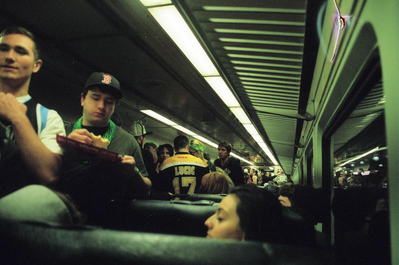 MBTA on St. Patrick's Day