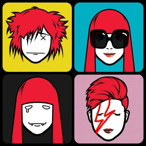 Morning, day, night & Ziggy me. I should really give up silly apps for Lent… #iMadeFace