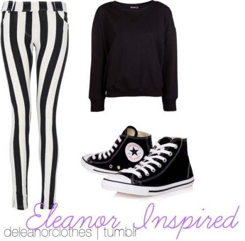 Untitled #106 by xkaatee featuring blk dnmBLK DNM  / Quiz black legging, $28 / Converse black canvas sneaker, $69