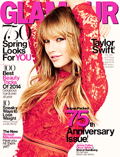 Taylor Swift on the cover of Glamour Magazine 2009 - 2014