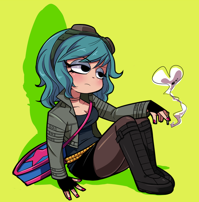 I'd love to know who the artist of this amazing Ramona Flowers piece is. Sadly, reverse searching on Google has finally failed me. Anyone know? EDIT: Matthias has confirmed that Sakiko Amana (Gekiama) is the artist of this wonderful piece, and she hails from Japan. Go check out her site! And thank you Matthias. :-)