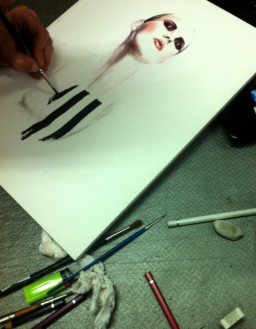 WIP on Marc Jacobs SS 2013 illustration