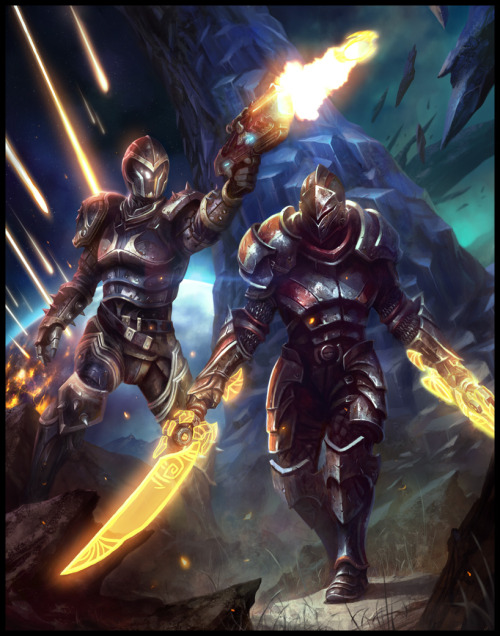 Mass Effect 3 and Kingdoms of Amalur Promo by Mike Lim Artist website / blog / deviantart