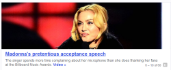 Reasons I dislike Madonna :: #314