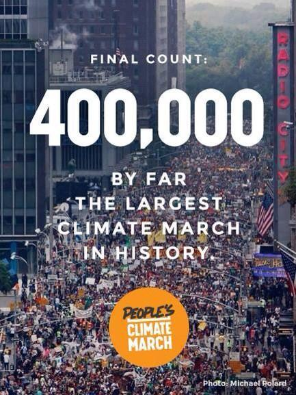 liefplus:  400,000 people came out to march in NYC this sundaydemanding strong & immediate action on climate policy! i was lucky to be there in person, and i recorded some footage i will share soon. tomorrow the UN summit on climate change meets in NYC, with ~150 world leaders gathering there. hopefully they wil be swayed by this recent action, to act more bravely against the fossil fuel industry, the animal agriculture industry, and others who are ruining our environment and thereby recklessly attacking the health and safety of countless people, primarily poor people of color in various parts of the world who are already feeling the harsh effects of climate change. i'm very interested to read naomi klein's new book about capitalism vs the climatewhen i can afford to get a copy soon, and hopefully i will find ways to become more active around these issues in my life/work.. climate justice is not the only pressing issue of our time, but it intersects with just about every other struggle there is, and our failure to act soon will cause enormous suffering to huge amounts of people..here is a TIME article about the climate march this weekend <3