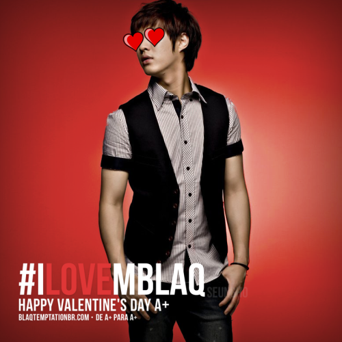 blaqtemptation:  Happy Valentine's Day with MBLAQ! Let's trend #iLoveMBLAQ on Twitter