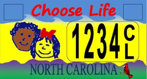 Good news!  North Carolina is now barred from issuing anti-choice license plates without having a pro-choice alternative.