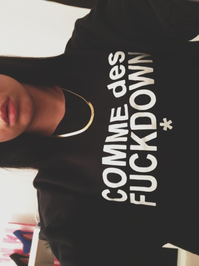 "shwagerr:  fashionpassionates:  Get yours: COMME des Sweater Shop FP | Fashion Passionates ""get your fashion fix with fashion passionates!""   I follow back"