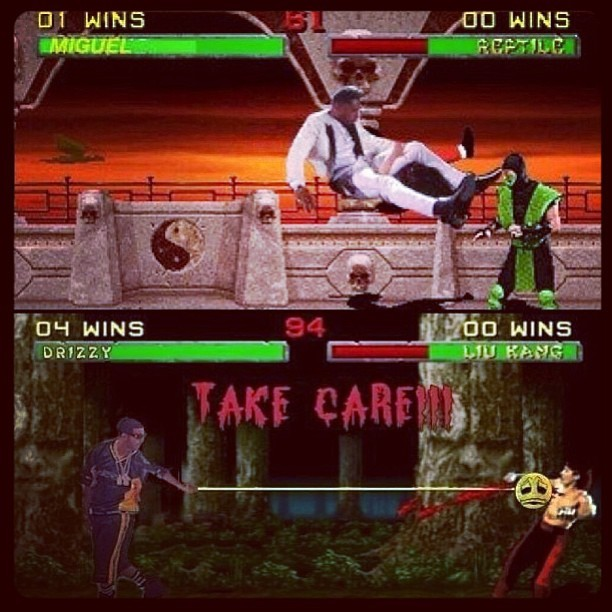 asapswag702:  #Miguel #NewFeature in #MortalKombat on #Xbox720 #FinishingMove #LegDrop .. #finalFight #drizzy vs #miguel