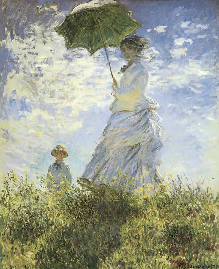 thepaintinghasalifeofitsown:  Claude Monet: the walking lady with a parasol