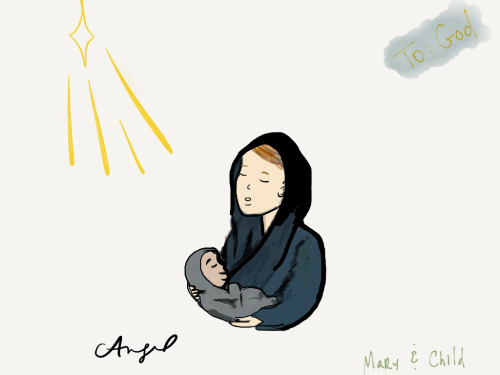 Virgin Mary & Child  My first drawing & my first time using this app