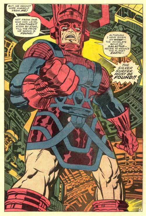 Fantastic Four 75 Galactus splash page 1968 Kirby by giantsizegeek http://flic.kr/p/e483np