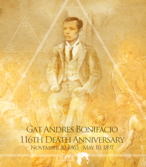 lopeziana:  Apotheosis of Andres Bonifacio Today we commemorate the 116th Death Anniversary of Gat Andres Bonifacio. He and his brother Procopio were executed in Maragondon after a trial in 1897.Resources: Transcript of the Trial of Andres BonifacioIn Art heroic figures are often celebrated in an allegorical manner referred to as 'apotheosis' which is the elevation of a dead leader (often one who was assassinated and/or martyred) to a kind of superhuman charismatic figure.