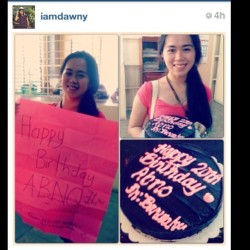 Regram. Thank you so much, barwaku & HRs!! :) #birthday #surprise #cake #candles #friends