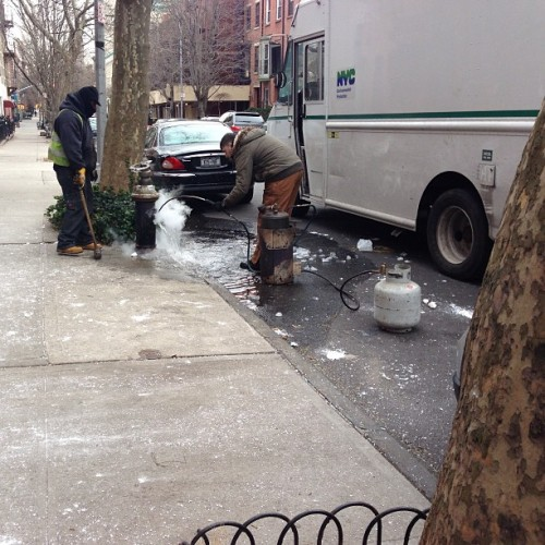 The busted frozen hydrant saga comes to an end.