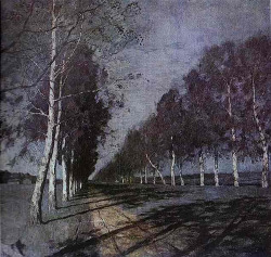 thelighthunter:  Levitan, Isaac (1860-1900) - 1897 Moonlit Night. A Village (Tretyakov Gallery) by RasMarley on Flickr.