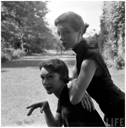 fewthistle:  Sophie Malgat and Bettina Graziani. 1950. (for Life Magazine) Photographer: Gordon Parks